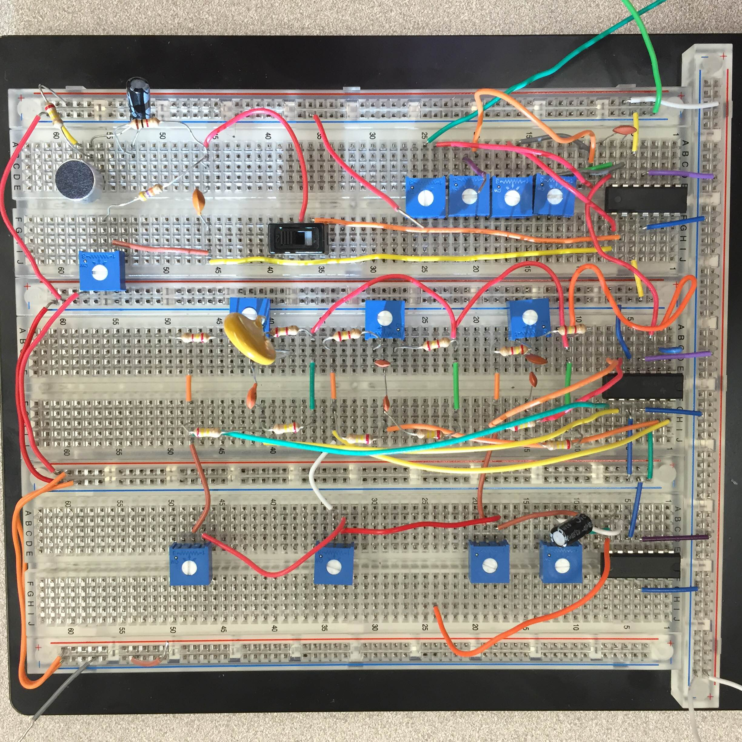 Max Pfeiffer Projects Audio Mixer Circuit Completed December 2015